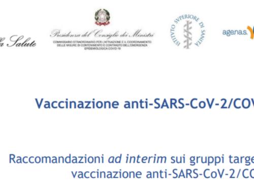 Vaccinazione anti-SARS-CoV-2/COVID-19 – Aggiornamento 10 Marzo 2021